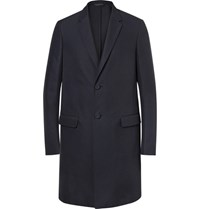 Calvin Klein Collection Roland Twill Overcoat Midnight Blue