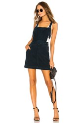Ag Adriano Goldschmied Jacs Corduroy Overall Dress Navy