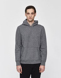 Reigning Champ Rugby Terry Pullover Hoodie Melange Black