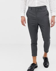 Only And Sons Slim Cropped Suit Trouser Grey
