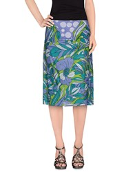 Antik Batik Skirts 3 4 Length Skirts Women Green