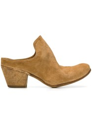Officine Creative Slip On Heeled Mules Nude And Neutrals