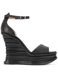 Alchimia Di Ballin Ankle Strap Wedge Sandals Black