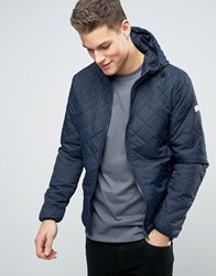 Blend Of America Quilted Hooded Bomber 70230 Navy