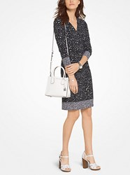 Michael Michael Kors Floral Matte Jersey Wrap Dress Black