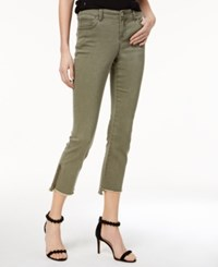 Inc International Concepts Step Hem Skinny Jeans Created For Macy's Olive Drab