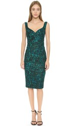 Black Halo Ally Sheath Dress Teal