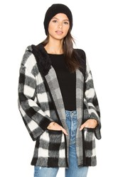 Obey Faux Sherpa Flynt Wrap Black And White