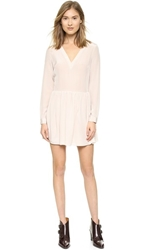 Rory Beca Rodell V Neck Band Long Sleeve Dress Morganite
