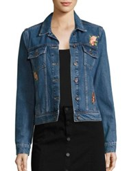Paige Rowan Embroidered Denim Jacket Rosemont Patch