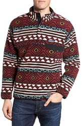 Patagonia Men's 'Synchilla Snap T' Pullover Cinder Red