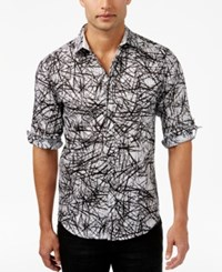 Inc International Concepts Men's Cross Hatch Roll Tab Shirt Only At Macy's White