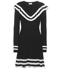 Red Valentino Knitted Cotton Dress Black