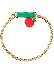 Marc By Marc Jacobs 'Bow Tie With Apple' Bracelet Metallic