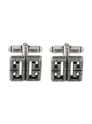 Givenchy Burnished Logo Cufflinks Metallic