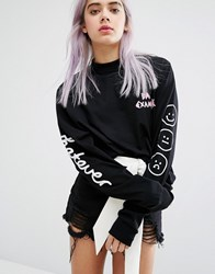 Lazy Oaf Whatever Long Sleeve T Shirt Black