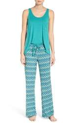 Josie Women's Mesmerized Pajamas Teal With Blue