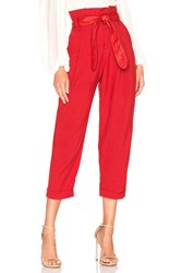 Marissa Webb Anders Pant Red