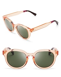 Toms Bellevue Sunglasses Peach Crystal Green Gray