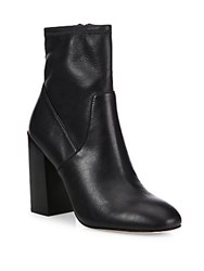 Rebecca Minkoff Bojana Faux Leather Block Heel Booties Black