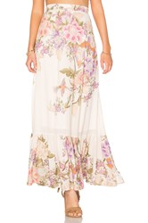 Spell And The Gypsy Collective Blue Skies Split Skirt Cream