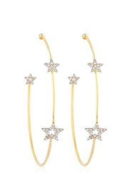 Perlota Trinity Star Hoop Earrings