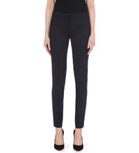 The Kooples Tapered Stretch Wool Trousers Dark Navy