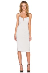 Dolan Bodycon Slip Dress Light Gray