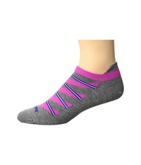Feetures High Performance Ultra Light No Show Tab 3 Pair Pack Heather Gray Pattern No Show Socks Shoes