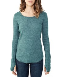 Alternative Apparel Long Sleeve Top Eco Mock Fern