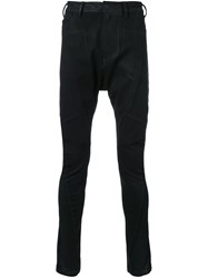 Julius Coated Drop Crotch Jeans Black