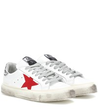 Golden Goose May Leather Sneakers White