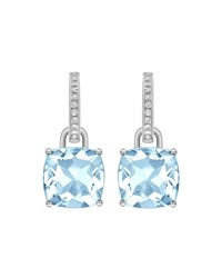 Kiki Mcdonough 18K White Gold Topaz And Diamond Drop Earrings