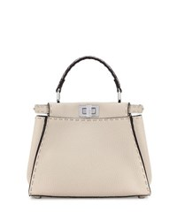 Fendi Selleria Peekaboo Mini Leather Satchel Bag Multi