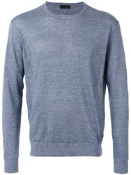 Z Zegna Crewneck Sweater Blue