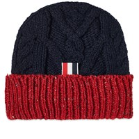 Thom Browne Mix Aran Mohair Tweed Hat Blue