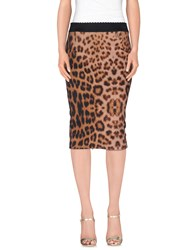 Vdp Collection Skirts Knee Length Skirts Women Brown