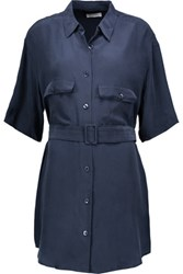 Equipment Matteo Washed Sik Shirt Dress Storm Blue
