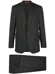 Isaia Single Breasted Blazer Suit Grey