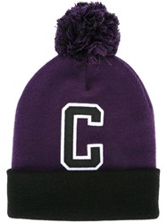 Carhartt 'C' Beanie Hat Pink And Purple