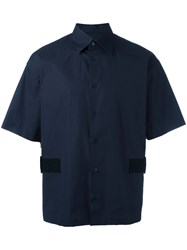 Marni Textured Panel Shirt Blue