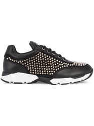Philipp Plein Studded Sneakers Men Leather Metal Rubber 40 Black