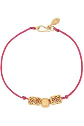 Pippa Small Net Sustain 18 Karat Gold And Cord Bracelet One Size
