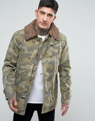 Pretty Green Parbrook Camo Jacket Multi