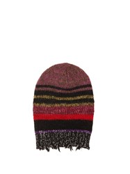 Etro Striped Wool Blend Beanie Hat Multi
