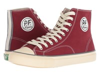 Pf Flyers All American Hi Mercury Red Canvas Lace Up Casual Shoes