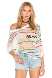 Wildfox Couture Relax Sweater White