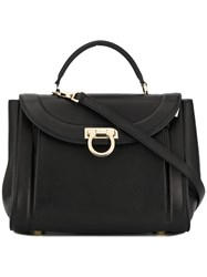 Salvatore Ferragamo Gancini Tote Bag Black