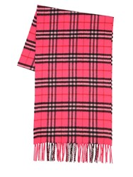 Burberry Giant Plaid Cashmere Scarf Fuchsia