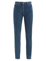 The Row Kate High Rise Slim Leg Jeans Blue